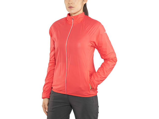 Icebreaker Rush Veste coupe-vent Femme, poppy red/embossed